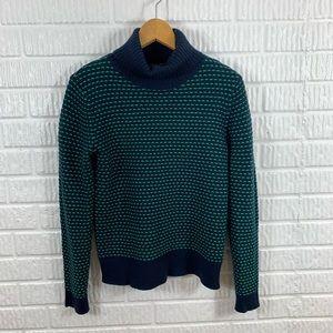 J. Crew Factory Turtleneck Sweater Navy Green XS